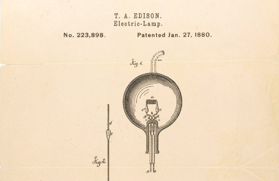 The Light Bulb - Thomas Edison:Edison created a design that glowed for hundreds of hours without burning  out. That is why he gets the credit for inventing the light bulb.,Lighting